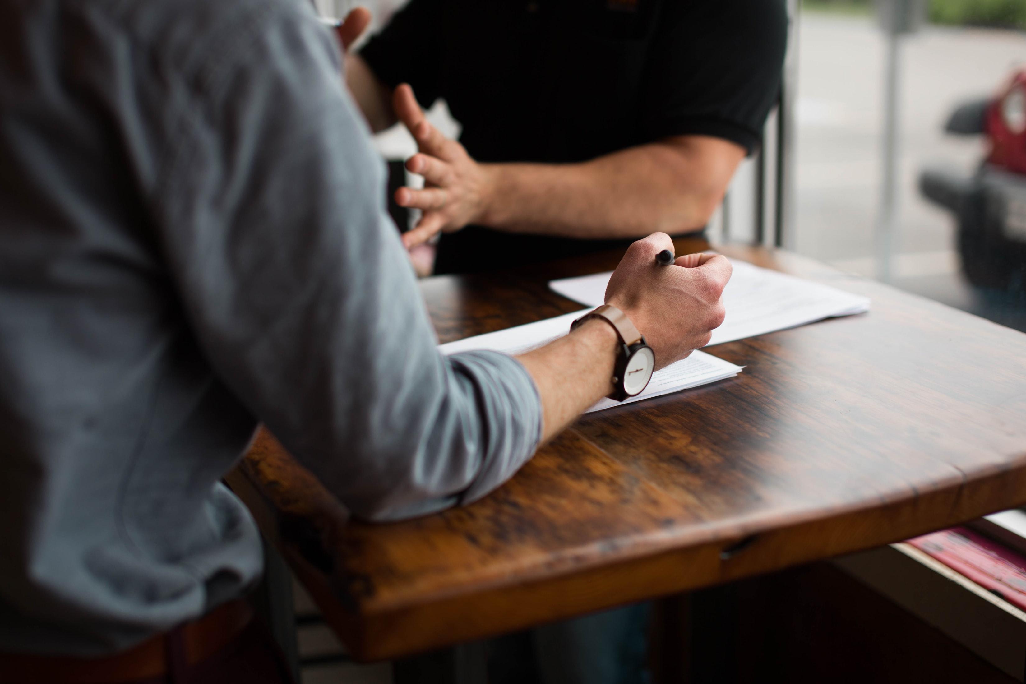 People planning on desk